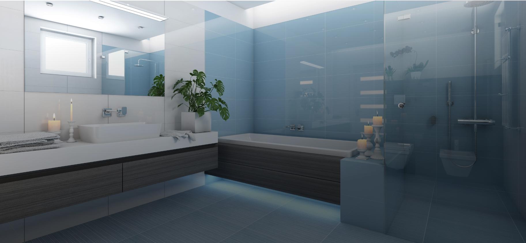 panorama bathrom home slider