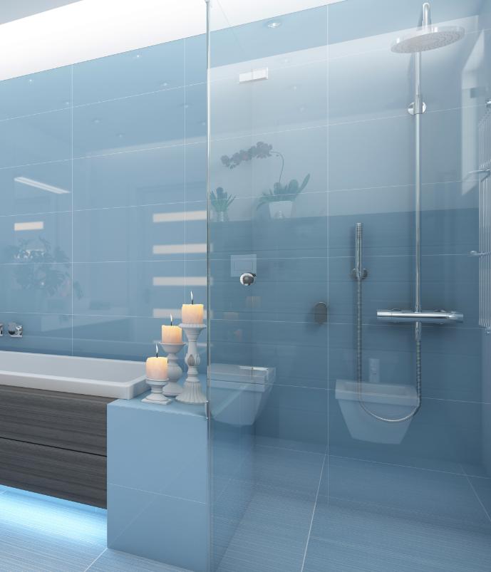 semi-frameless shower screens
